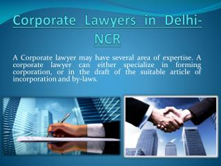 Corporate Lawyers in Delhi-NCR