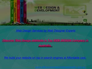 Cheapest Web Design Service Offered By Adelaide,SA