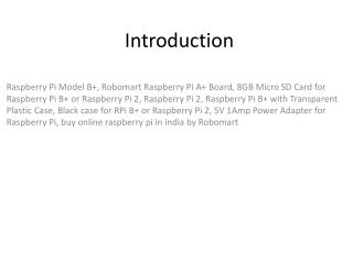 Raspberry Pi Components PPT