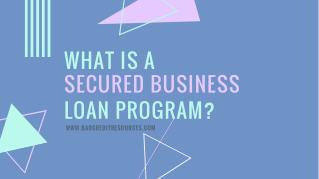 What is a Secured Business Loan Program?