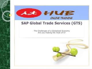 The Best SAP GTS online training in India, USA & UK.