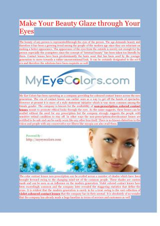 Buy Best Quality Non Prescription Colored Contact Lenses