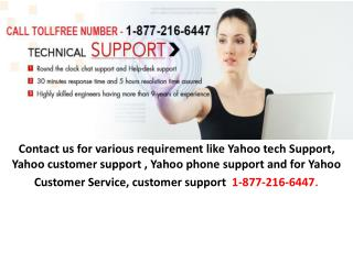 1-877-216-6447 Yahoo Customer Service | Customer Support