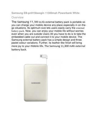 Samsung EB-Pn915bwegin 11300mah Powerbank - White