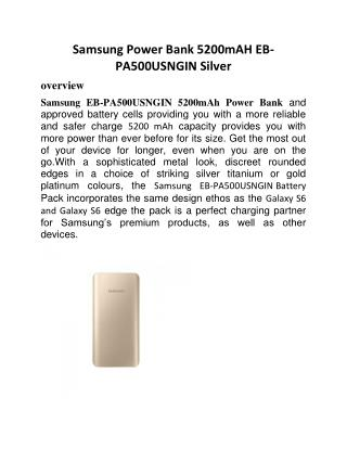 Samsung Power Bank 5200mAH EB-PA500UFNGIN Gold
