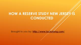 How A Reserve Study New Jersey Is Conducted