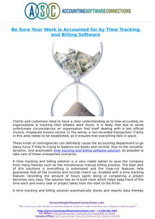 Be Sure Your Work is Accounted for by Time Tracking and Billing Software