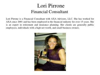 Lori Pirrone - Financial Consultant