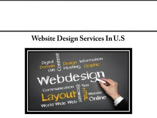 Web Designing in U.S