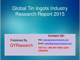 Global Tin Ingots Market 2015 Industry Analysis, Development, Outlook, Growth, Insights, Overview and Forecasts