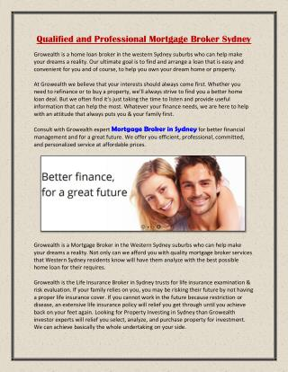 Qualified and Professional Mortgage Broker Sydney