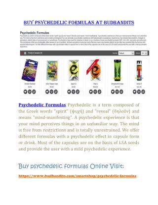 Buy Psychedelic formulas at budbandits