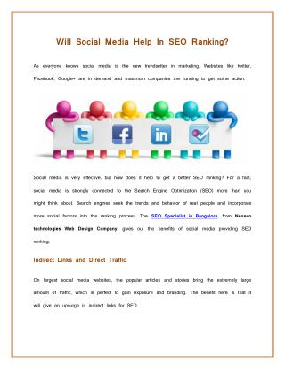Will Social Media Help In SEO Ranking