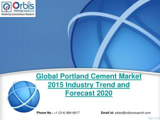 2015-2020 Global Portland Cement  Market Trend & Development Study