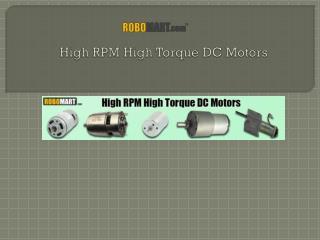 High Rpm High Torque DC Motors
