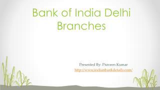 MICR code for Bank of India delhi