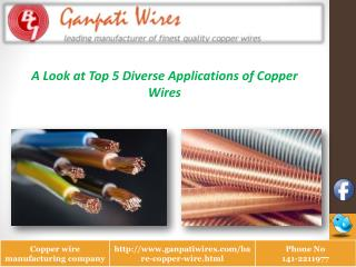 Top 5 Diverse Applications of Copper Wires