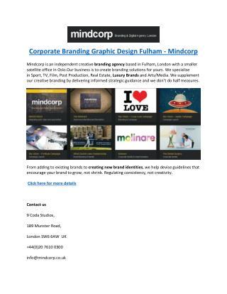 Corporate Branding Graphic Design Fulham - Mindcorp