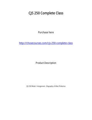 CJS 250 Complete Class