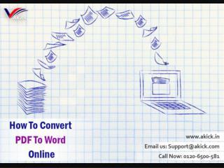 Free Online PDF Converter - Akick Document Converter