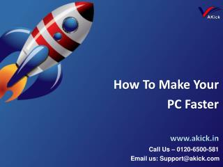 How To Make Your PC Faster