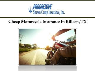 Cheap Motorcycle Insurance In Killeen, TX