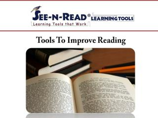 Tools To Improve Reading
