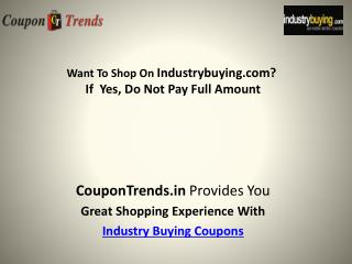 Exclusive Coupon Trends: Upto 15% Off Industrial products