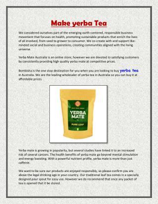 Make yerba Tea