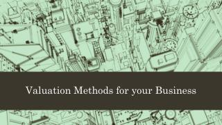 Valuation Methods for your Business