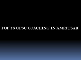 best coaching Upsc in Amritsar