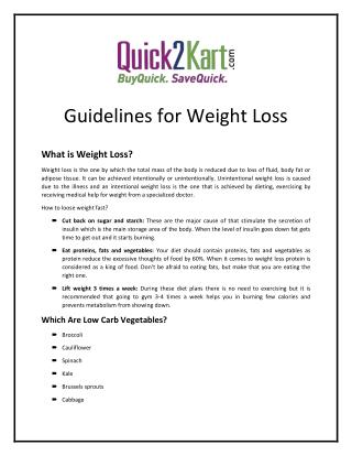 What is Weight Loss?