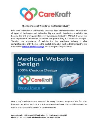 The Importance of Website for the Medical Industry