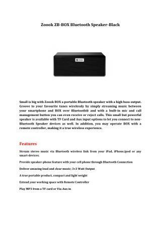 Zoook ZB-BOX Bluetooth Speaker-Black