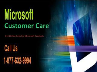 Microsoft customer service || 1-877-632-9994 || Microsoft Customer Care