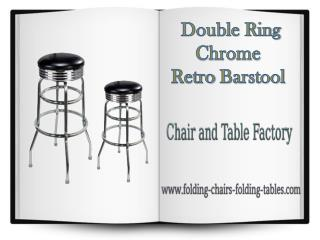 Double Ring Chrome Barstool - Folding Chairs Tables Larry Hoffman