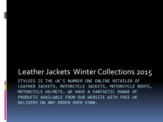 Leather Jackets Winter Collections 2015