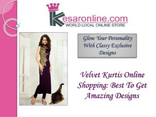 Buy Velvet Kurtis Online in UK