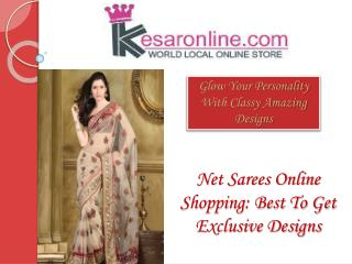 Shop Net Sarees Online in USA