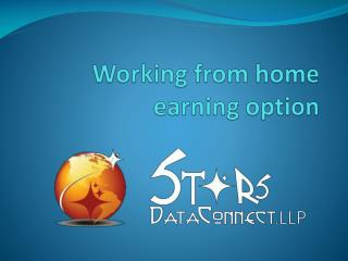 Working from home earning option