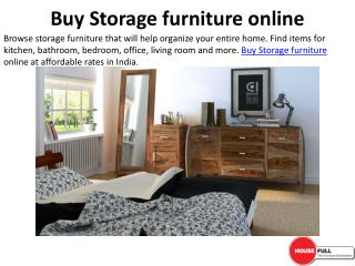Buy Storage furniture online