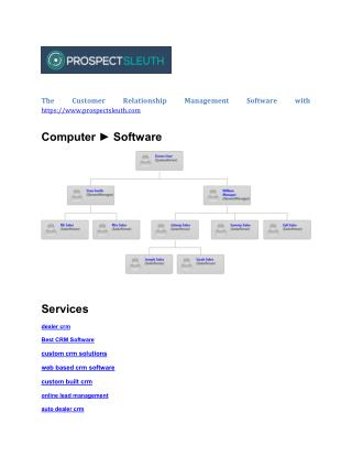 web based custom built crm software
