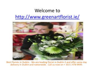 Dublin florist same day delivery