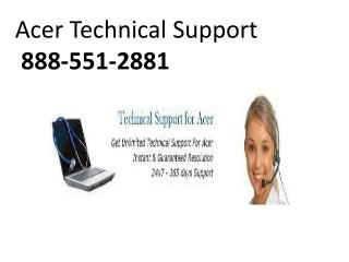 Acer Technical Support 888-551-2881