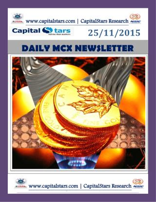 MCX COMMODITY INDIA NEWS