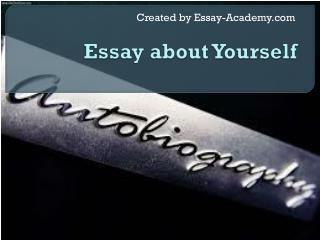 Essay about Yourself