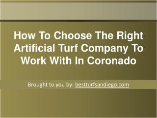 How To Choose The Right Artificial Turf Company To Work With In Corona