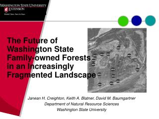 The Future of Washington State Family-owned Forests in an Increasingly Fragmented Landscape