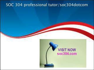 SOC 304 professional tutor/soc304dotcom