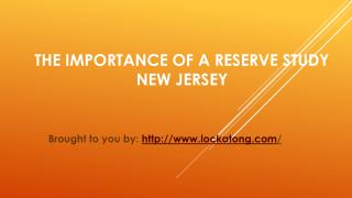 The Importance Of A Reserve Study New Jersey